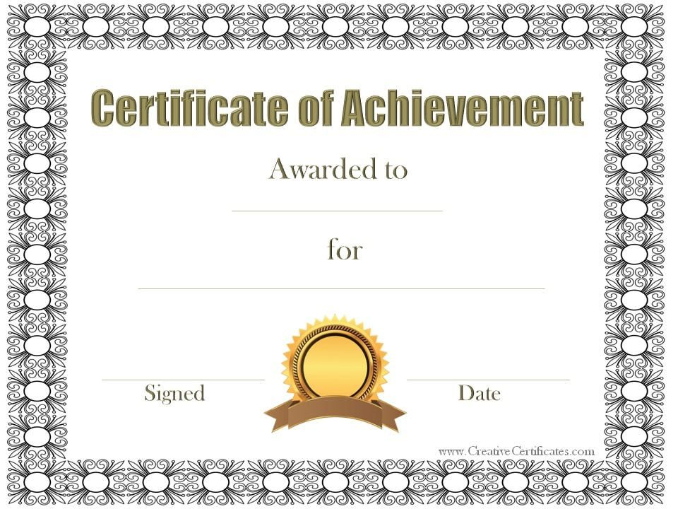 10 Certificates of Achievement | Certificate Templates