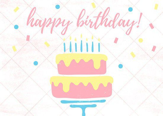 Pastel Cake and Candles Birthday Card - Templates by Canva