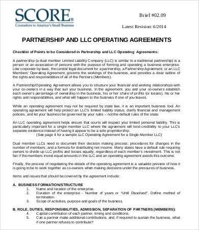 Operating Agreement Template. Llc Operating Agreement Free , 23+ ...