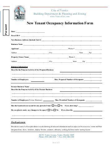 Tenant Information Form. Owner/Tenant Information Sheet E-Mail ...