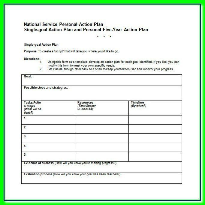 5 Year Career Action Plan Template Word Free DownlaodTemplate Blog ...