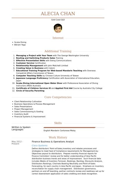 Operations Analyst Resume samples - VisualCV resume samples database