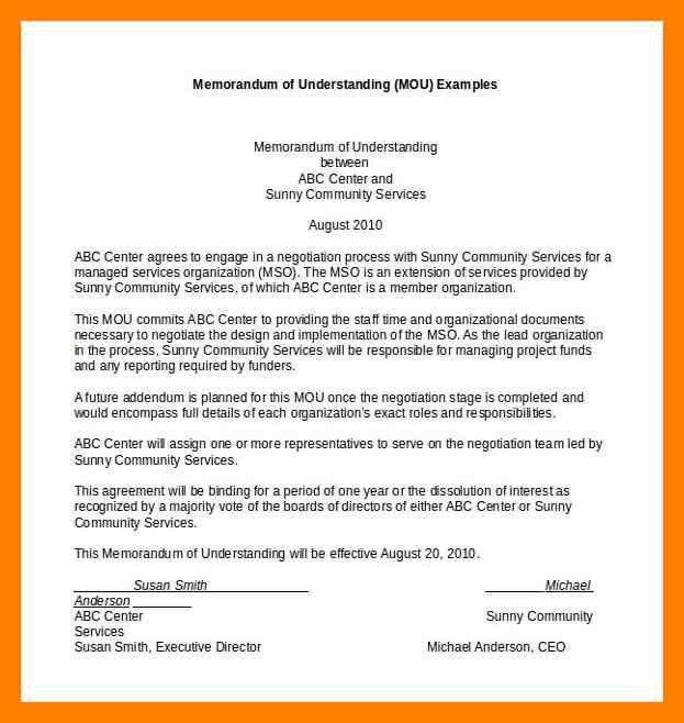 6+ letter of understanding sample | noc certificate
