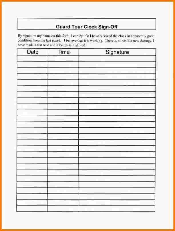 8 employee sign in sheet | Receipt Templates