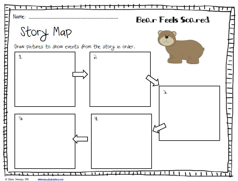 Story Map for Bear Feels Scared | Reading comprehension ...