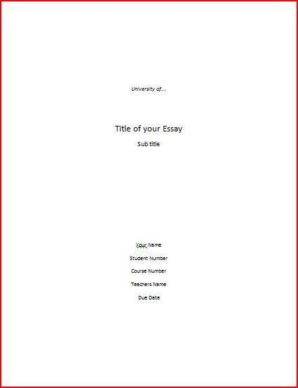 cover page letter