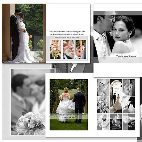 12x17 Wedding Album Templates | arc4Studio