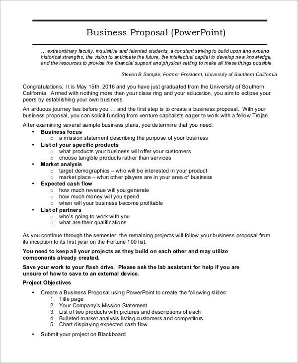Sample Business Proposal - 7+ Examples in PDF