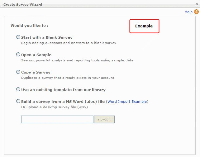 Create New Survey From Word File