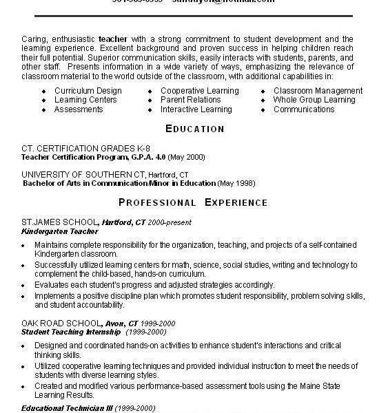 Math Teacher Resume, examples of teachers resumes. teaching resume ...