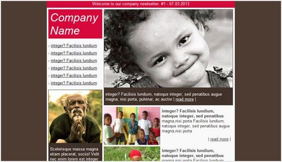 Charity email newsletter templates | Email newsletter templates ...