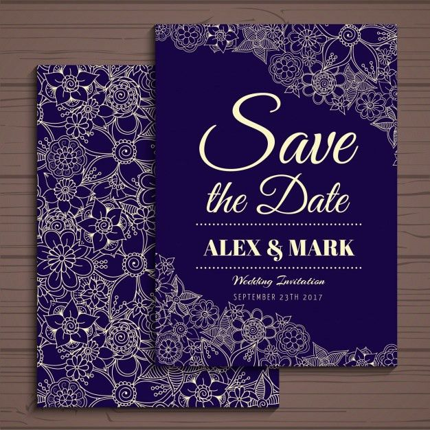 Wedding invitation design Vector | Free Download