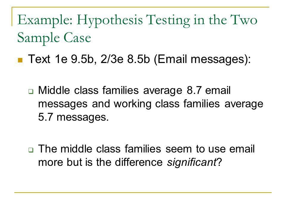 Hypothesis Testing: Two Sample Test for Means and Proportions ...