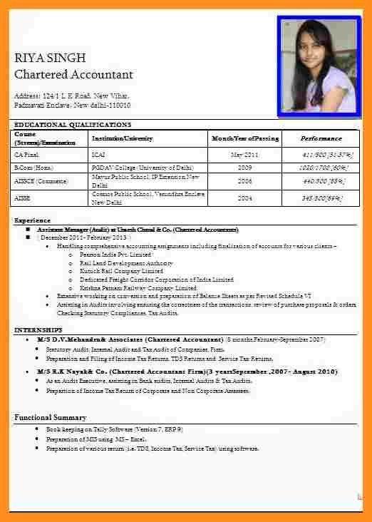 resume format for teaching job