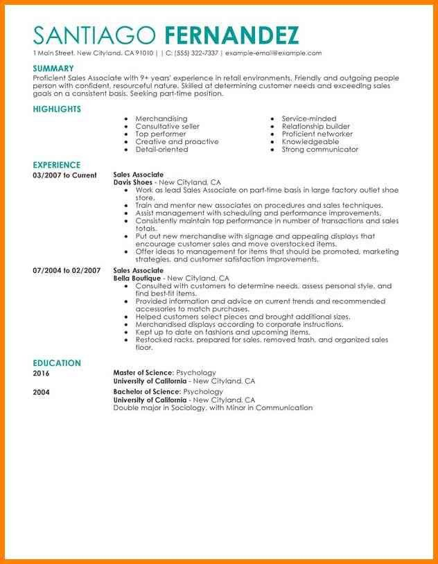 customer service construction resume retail clothing sales