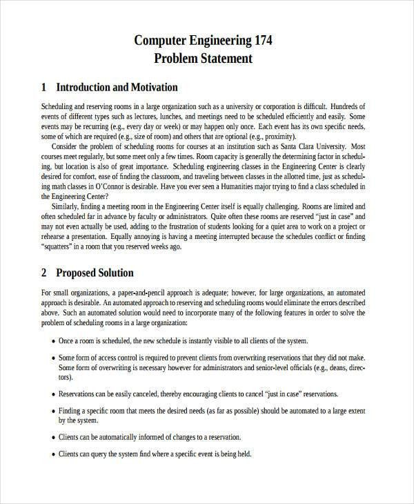 7+ Problem Statement Examples, Samples