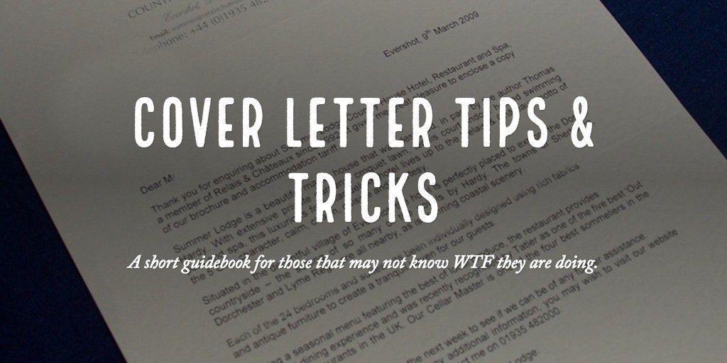 cover letter tips & Tricks
