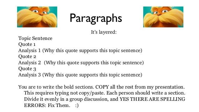 An Essay Example - The Lorax