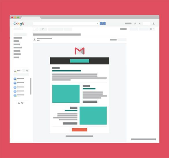 14+ Google Gmail Email Templates – HTML, PSD Files Download ...