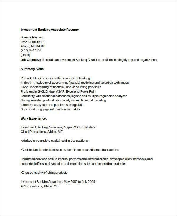 investment banking resume investment banking resume template wall