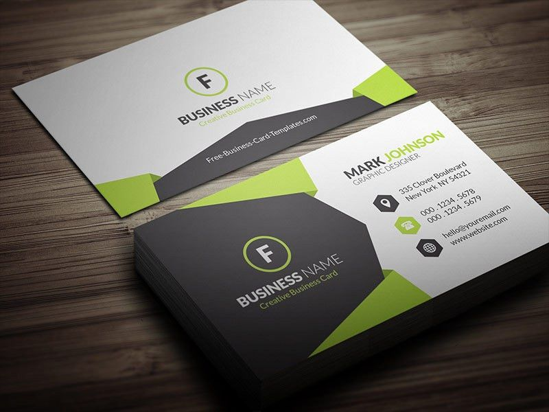 Geometric Style Corporate Business Card Template » Free Download ...