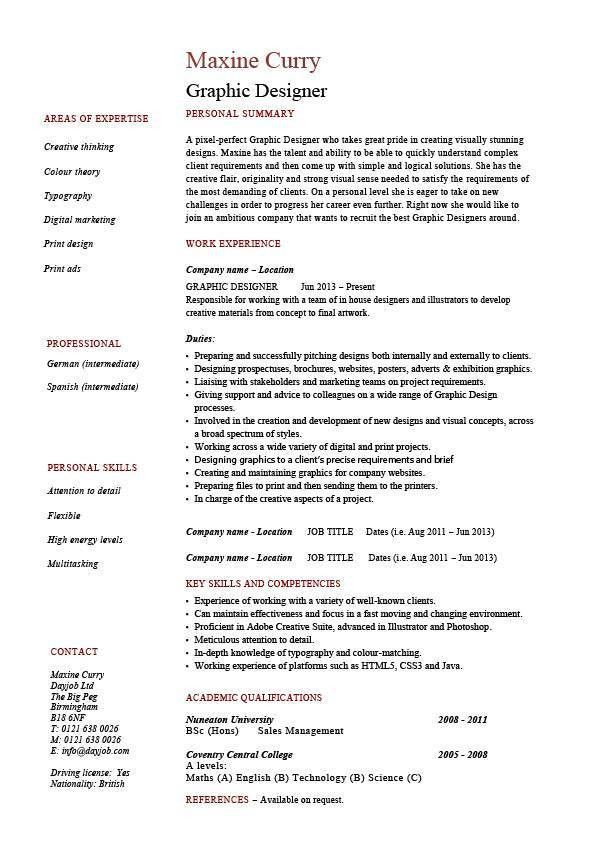 Download Sample Graphic Design Resume | haadyaooverbayresort.com