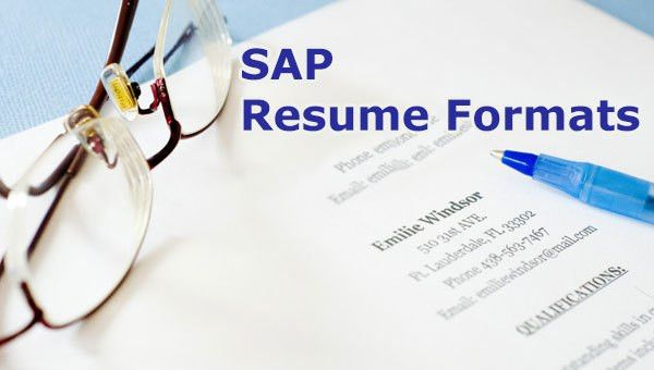 SAP Sample Resume for Freshers, Experienced | Free Download ...