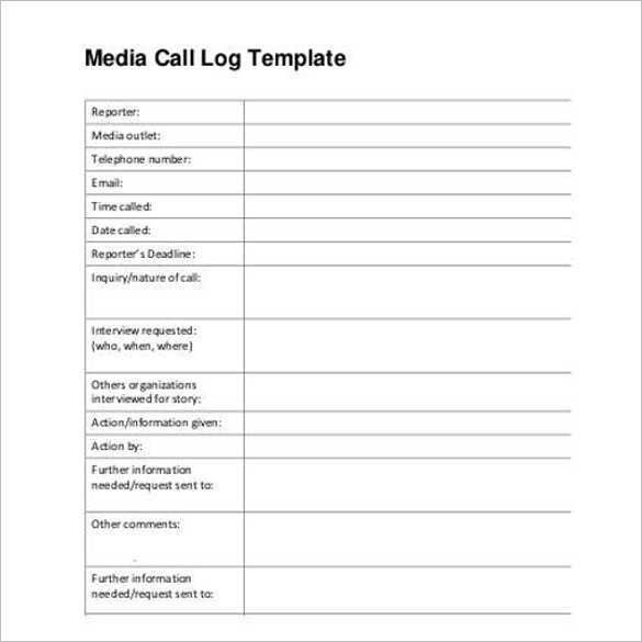 Action Log Template. 13+ Log Templates - Free Sample, Example ...