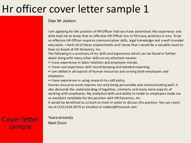 cover letter hr. hr officer cover letter. a good cover letter ...