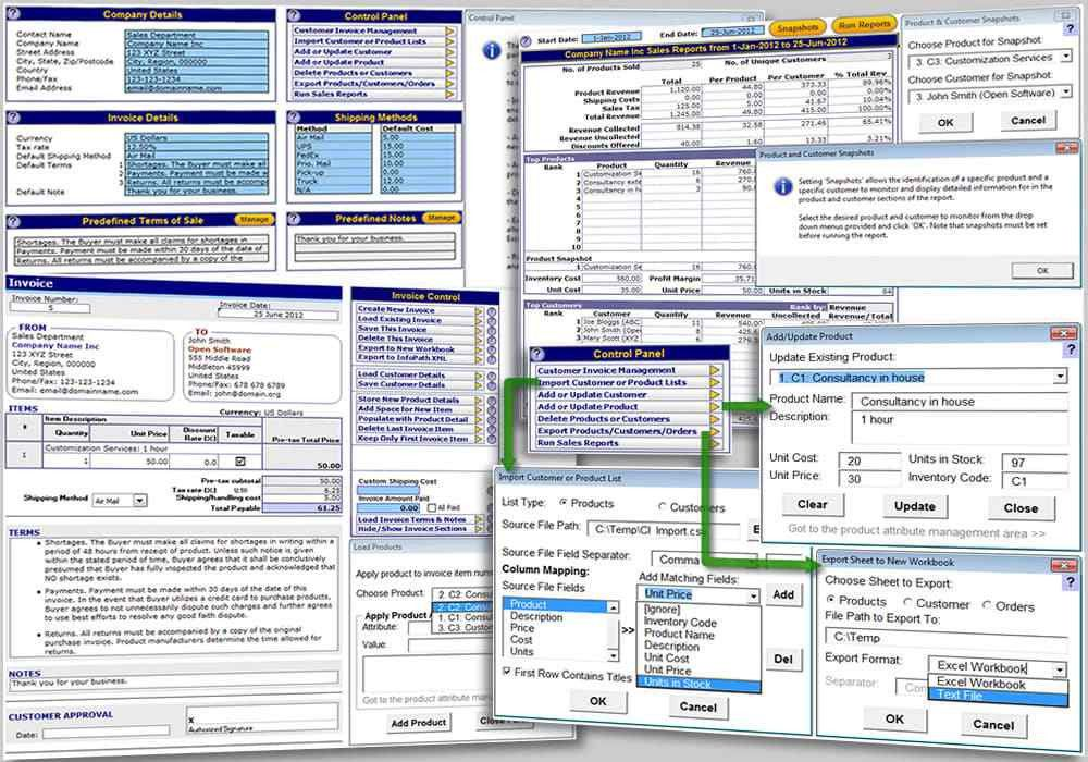 Download Excel Invoice Template - free - latest version
