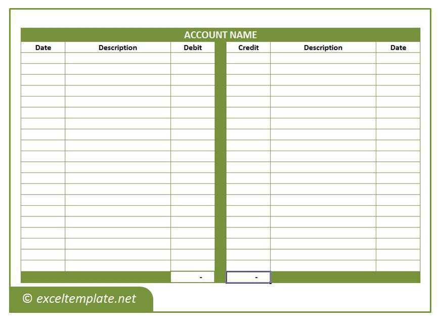 General Ledger | Excel Templates