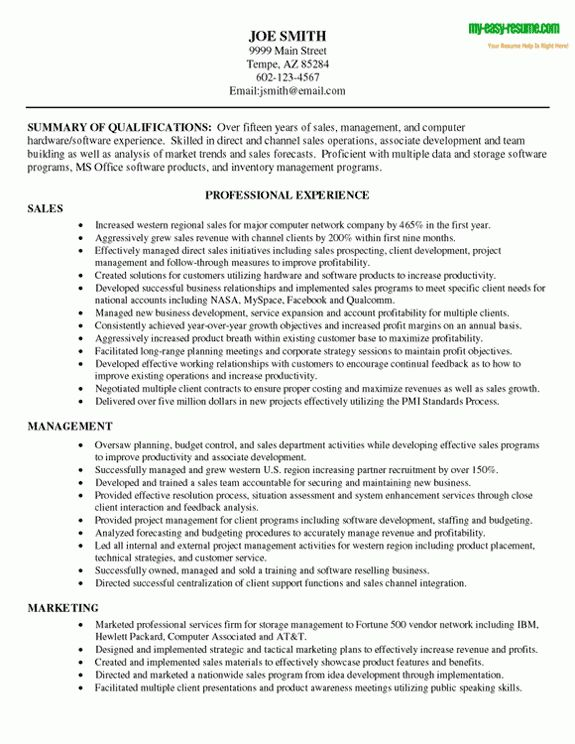 sales resume example this sales resume sample illustrates some ...