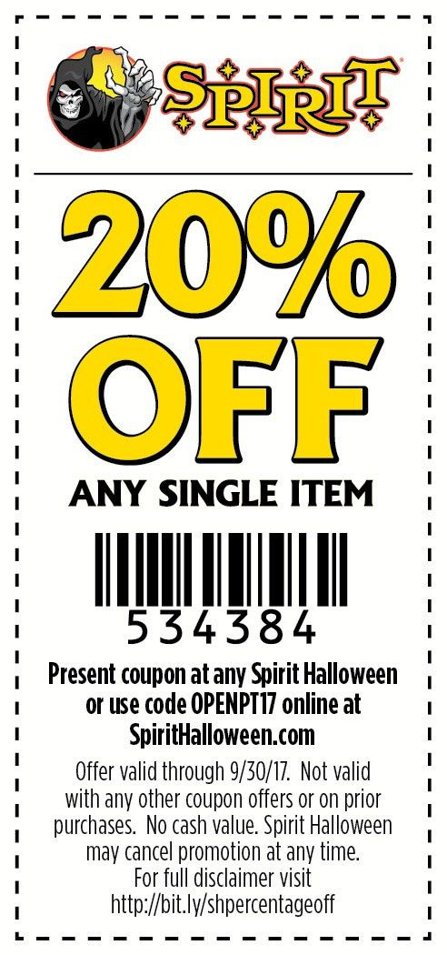 Spirit Halloween stores are creeping up! Use this coupon to save ...