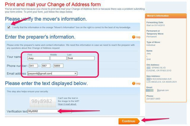 How to Print a Change of Address Form From the US Post Office ...