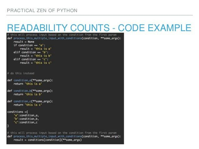 Practical Zen of Python