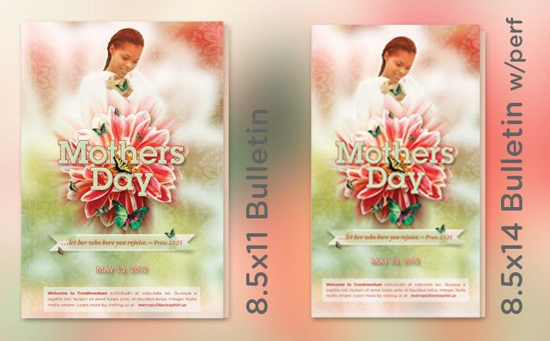 Mothers Day Church Bulletin Template ‹ PsdBucket.com