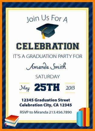 7+ free graduation party invitation templates | budget template