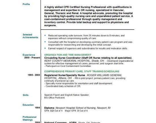 New Grad Nursing Resume Objective example - Writing Resume Sample ...