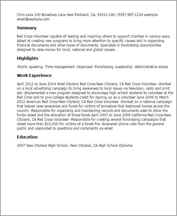 Professional Red Cross Volunteer Templates to Showcase Your Talent ...