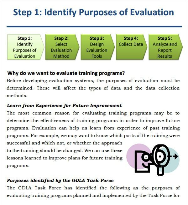 Sample Training Evaluation - 6+ Documents in Word, PDF