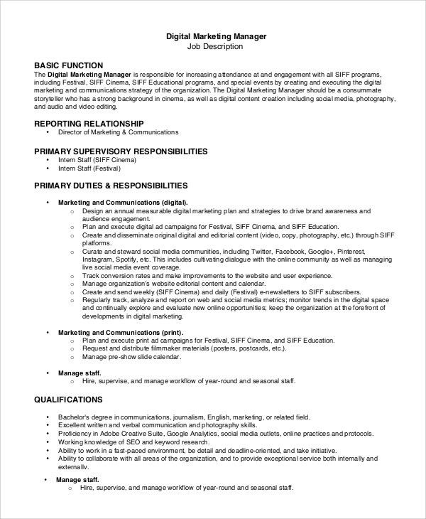 Creative Director Responsibilities Creative Director Job – Social Media Marketing Job Description