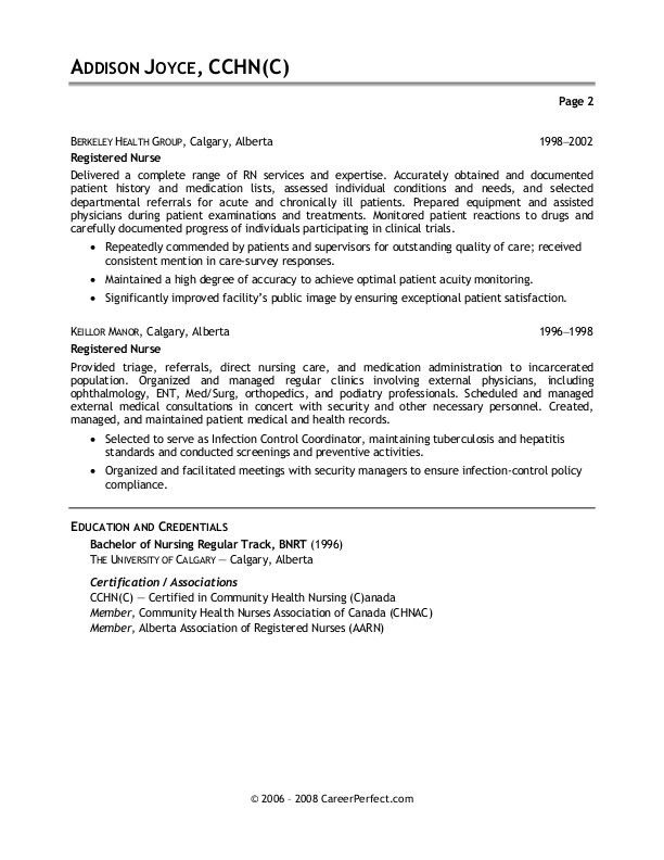 Cover Letter Example Nursing Careerperfect Cover Letter Example ...