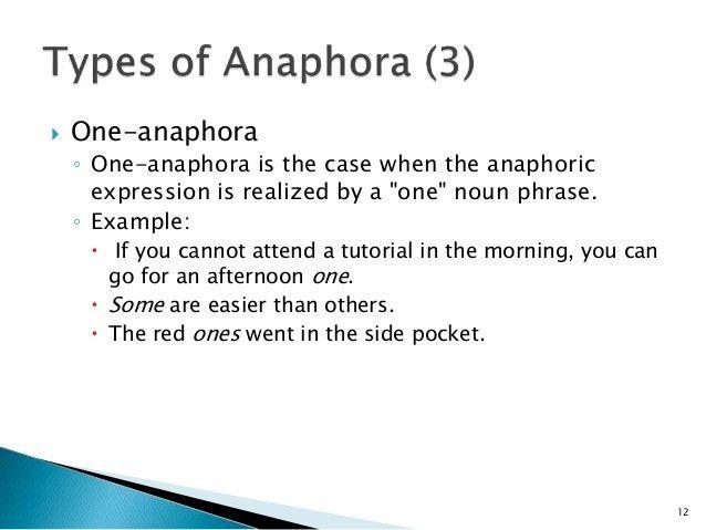 ANAPHORA EXAMPLES - alisen berde