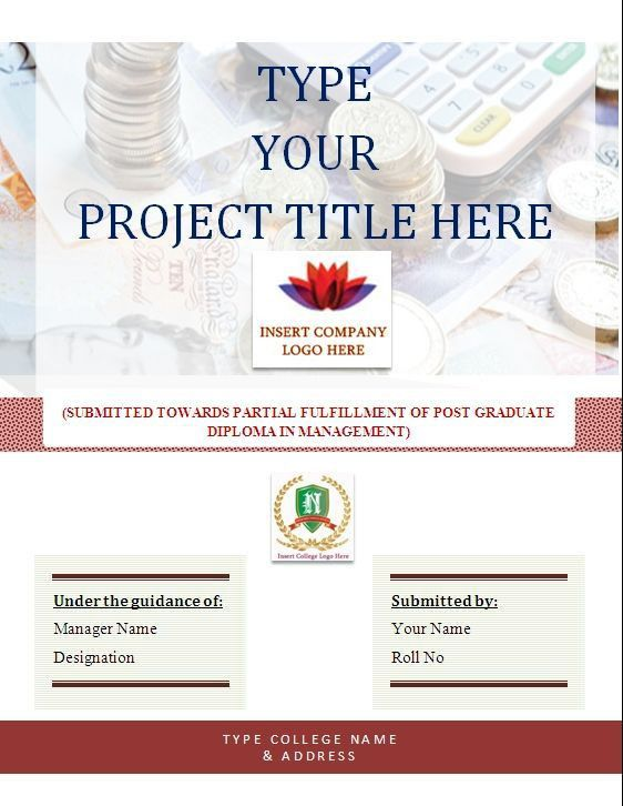project cover page format