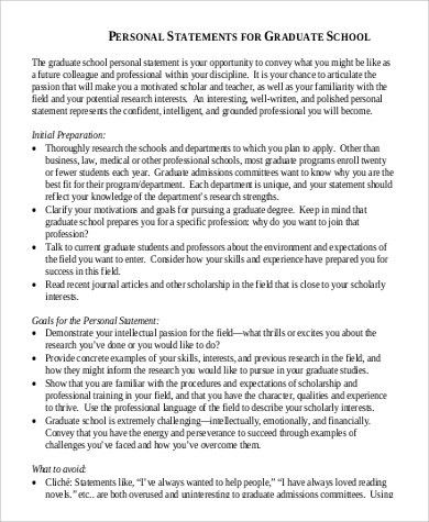 Sample Personal History Statement - 9+ Examples in Word, PDF