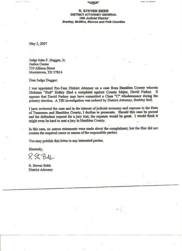 District Attorney Investigator Cover Letter