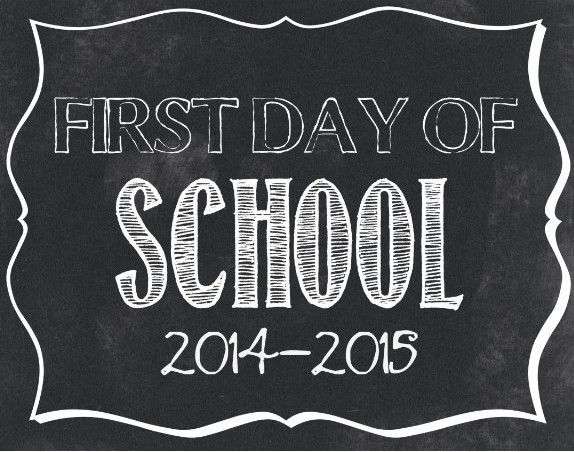 First Day of School Signs | 10 FREE Back-to-School Signs