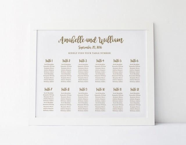 reception seating chart template