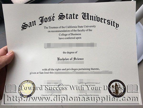 San Jose State University diploma, SJSU degree, buy fake SJSU ...