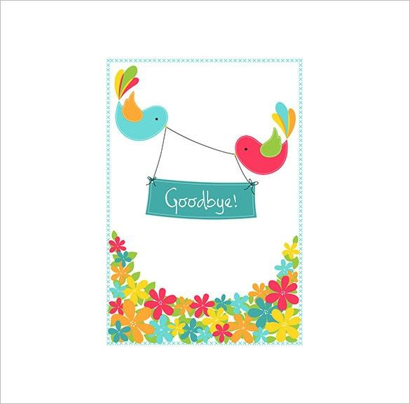 Farewell Card Template – 18+ Free Printable Sample, Example ...
